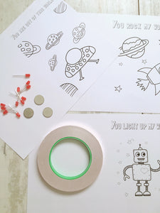 Space Themed Paper Circuit Kit