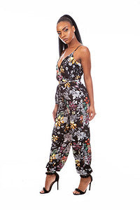 Floral Spaghetti Strap | Jumpsuit