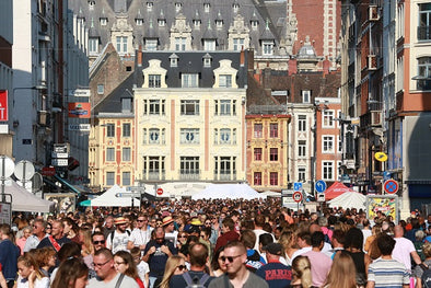 "The Braderie de Lille, in northern France, is one of Europe's biggest flea markets. ""People really like the old chippy stuff, the true old pieces,"" an American dealer said.  Photo Credit Owen Franken for The New York Times"