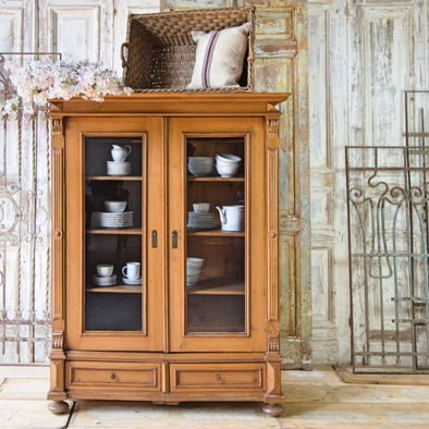 Original Pine Knockdown Cabinet, Germany c. 1900