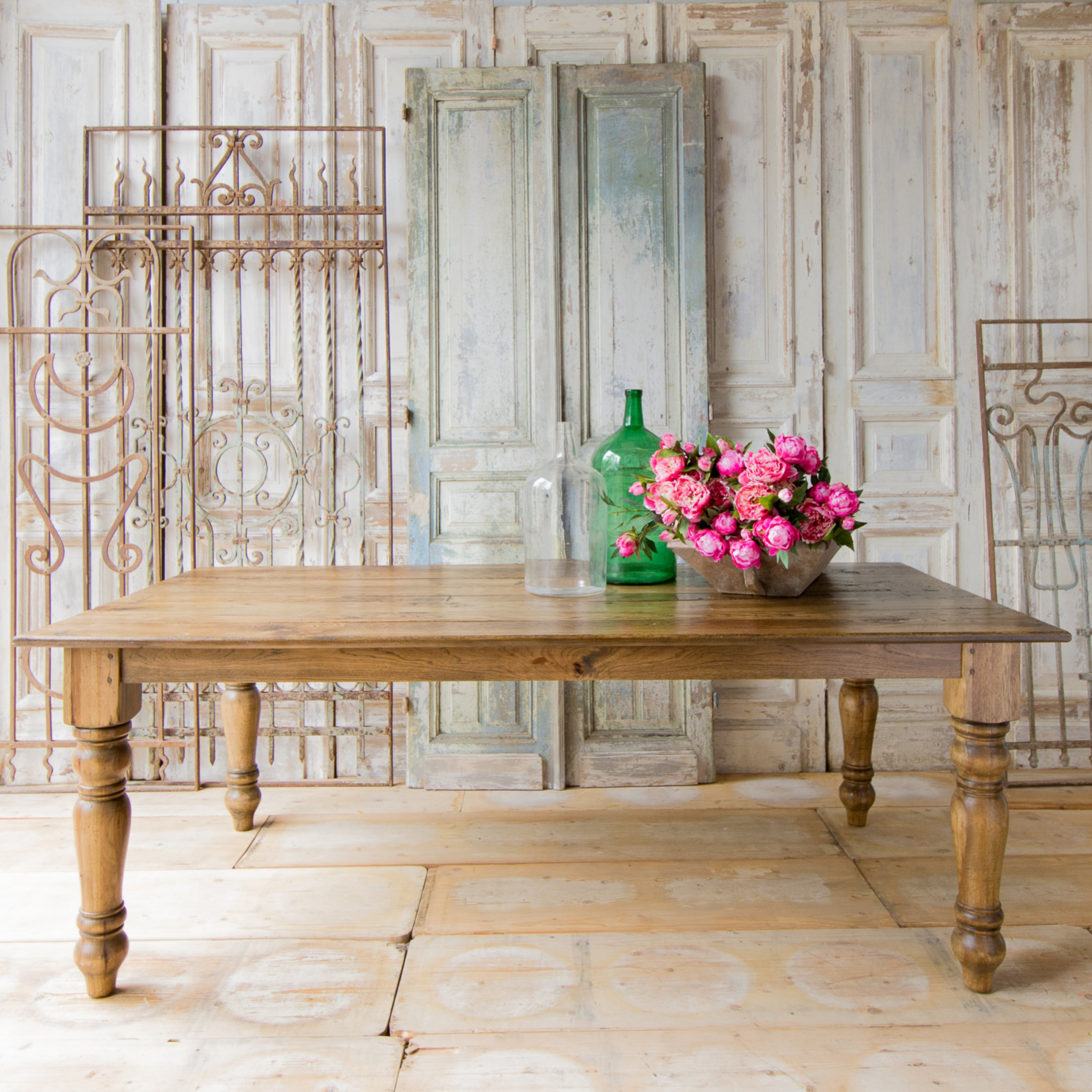 Incredible Handcrafted Harvest Dining Table Salvaged Pecan Interior Design Ideas Gentotryabchikinfo