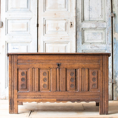 Antique Oak Storage Chest, Czech Republic c. 1880