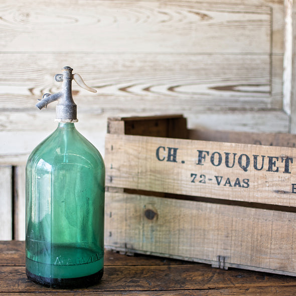 Green 1.5-Liter Seltzer Bottle, Romania c. 1930