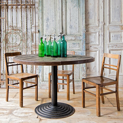 Large Industrial Bistro Table, France, Reclaimed Materials