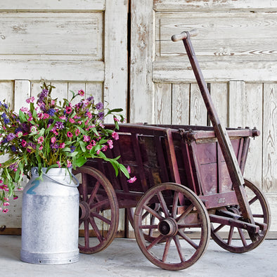 Authentic Red Painted Farm Cart, Germany c. 1920