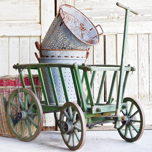 Green Painted Farm Cart, Germany c. 1930