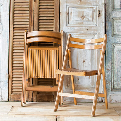Wooden Folding School Chair, Germany c. 1950