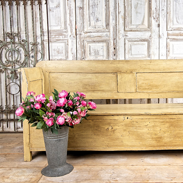 Painted Farmhouse Bench, France c. 1890