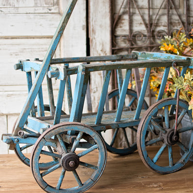 Original Blue Painted Farm Cart, Germany c. 1930