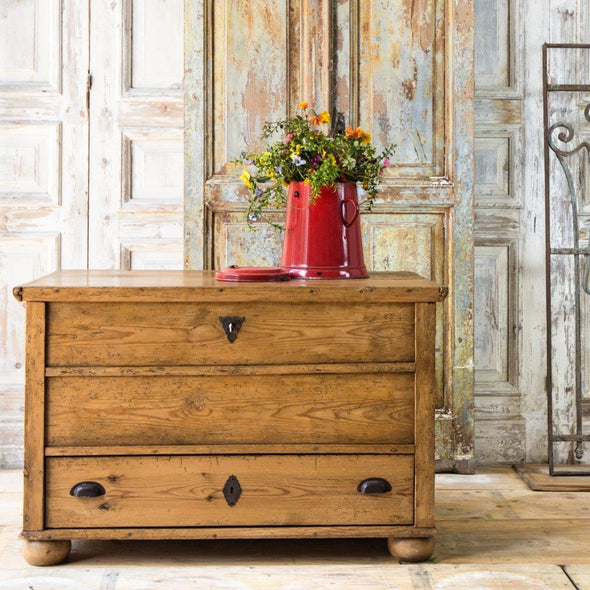 "Antique Pine ""Drawers"" Chest, Germany c. 1890"