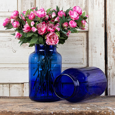 15-Liter Cobalt Blue Pickling Jar, Hungary