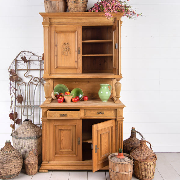 Pine Kitchen Hutch, Germany c. 1920