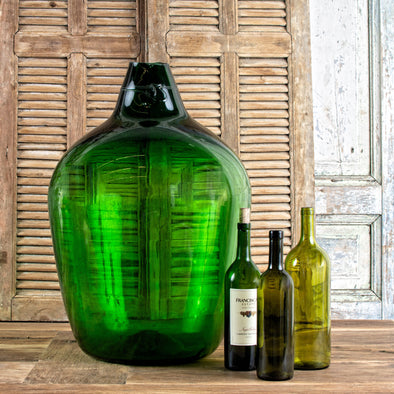 Large Green Demijohn, France c. 1910