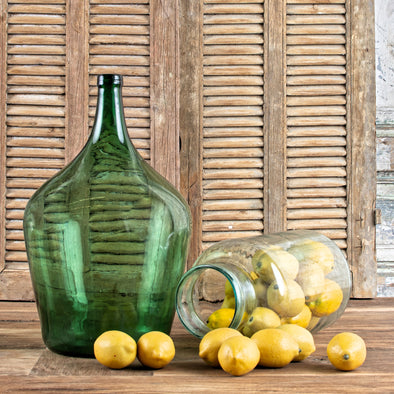 Vintage Green Demijohn, France c. 1950