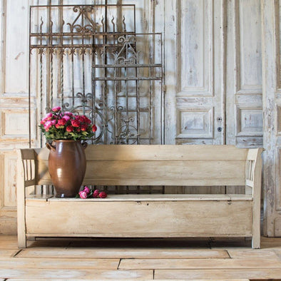 White Farmhouse Bench, France c. 1890
