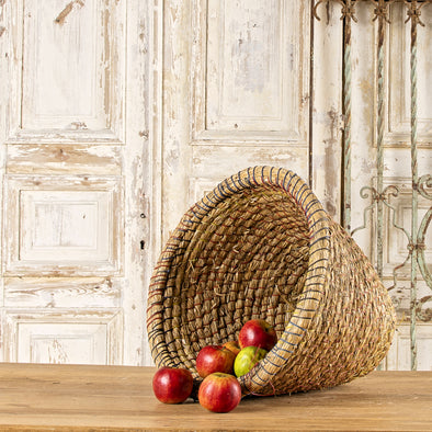 Vintage XL Farmhouse Egg Basket, Hungary c. 1950
