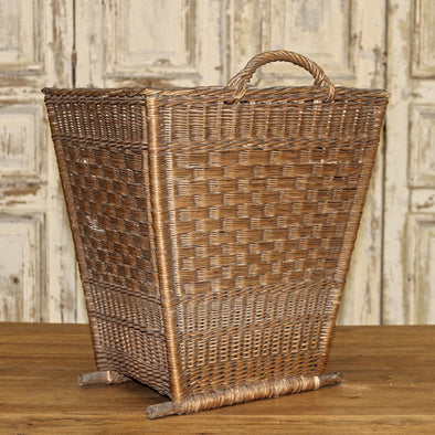 Antique Wicker Harvest Basket, France c. 1920