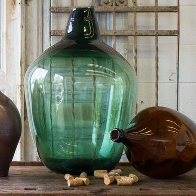 Large Green Demijohn, France c. 1930