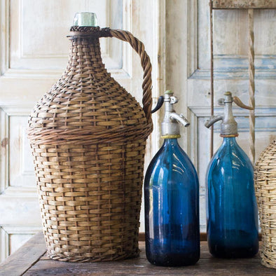 Original Wicker Demijohn, Hungary, c. 1950