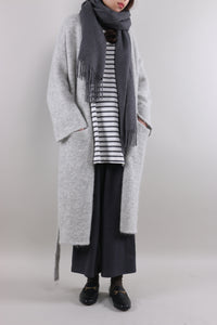 Gray Long Cardigan Sweater by Zeneroe (2017)