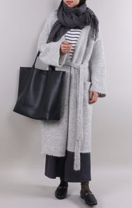 Gray Long Cardigan Sweater by Zeneroe (2017) II