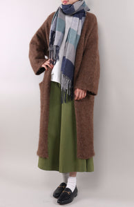 Chestnut Brown Long Cardigan Sweater by Zeneroe (2017)