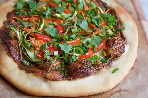 vegan spring roll pizza