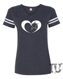 Cowboy heart star shirt ladies