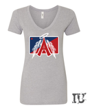 Los Angeles Baseball ladies V-Neck shirt