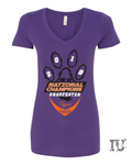 Tigers 2019 Championship ladies v-neck shirt