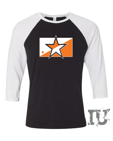 Orange star shirt 3/4-Sleeve