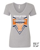 Virginia basketball redemption 2019 champions ladies v-neck shirt