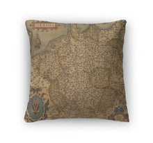 Throw Pillow, Antique Map Of Germany