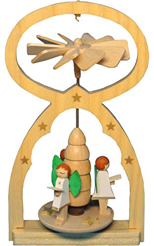Angel Choir Miniature Pyramid 3 x 5 Inch Wood Christmas Ornament