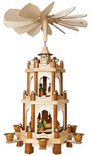 Nativity Play 3 Tier Carousel with 6 Candle Holders Design From Germany