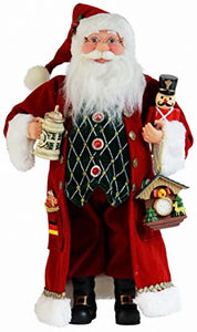 German Cuckoo Clock Santa Claus Christmas Figurine