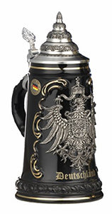 German Beer Stein Black Deutschland
