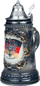Beer Steins Mugs by King - Black German (Deutschland) Flag