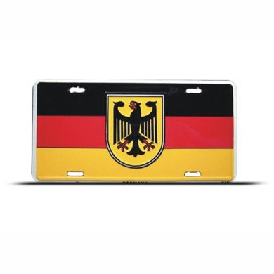 Germany German Flag Metal License Plate Wall Sign Tag