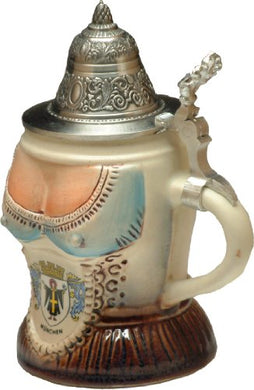 Bavarian Woman's Top German Beer Stein (Beer Mug)