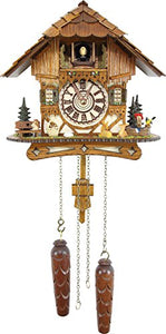 German Cuckoo Clock - Blackforest Hillside Chalet With Animals
