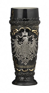 German Beer Stein black Deutschland pewter eagle wheat beer cup 0.5 liter tankard, beer mug