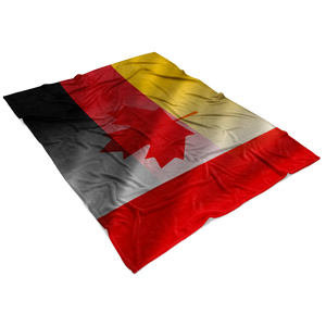 Canada-Germany Flag Fleece Blanket