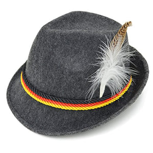 Melesh Adult Felt Swiss German Alpine Bavarian Oktoberfest Hat Cap