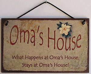 "5x8 Vintage Style Sign, ""Oma's House"