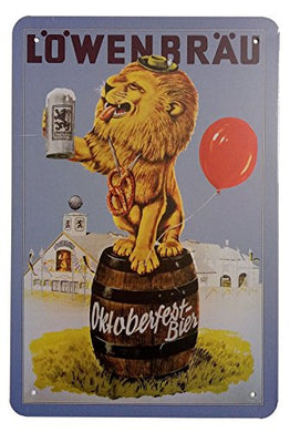 Lowenbrau Beer Retro Vintage Home Decor Wall Tin Sign
