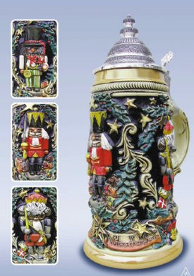 Nutcracker Suite Christmas LE German Beer Stein 1/2L Made in Germany New Mug