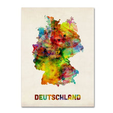 Germany Watercolor Map Canvas Wall Art