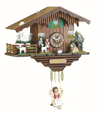 Trenkle Black Forest Clock Swiss House With Turning Goats