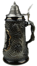Old German Petwer Coat of Arms Black Lozenge German Beer Stein 0.5l